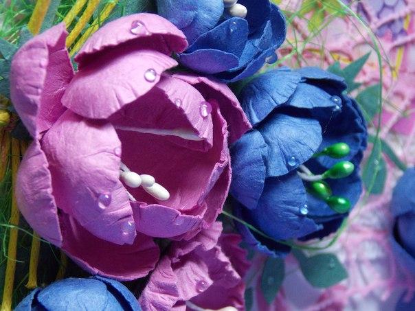 Мастер класс: цветы из бумаги для акварели