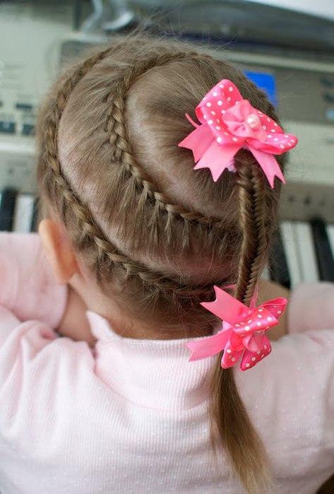 Прическа маленькой девочке мастер класс