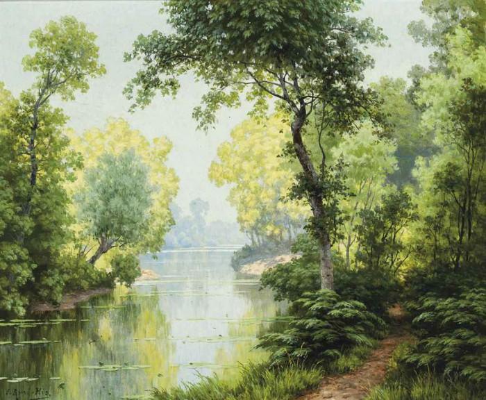 пейзажи художник Charles Edmond Rene-His - 09