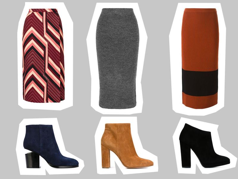 long straight skirt+ankle boots_s zalivkoj
