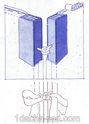 крепление створок ширмы