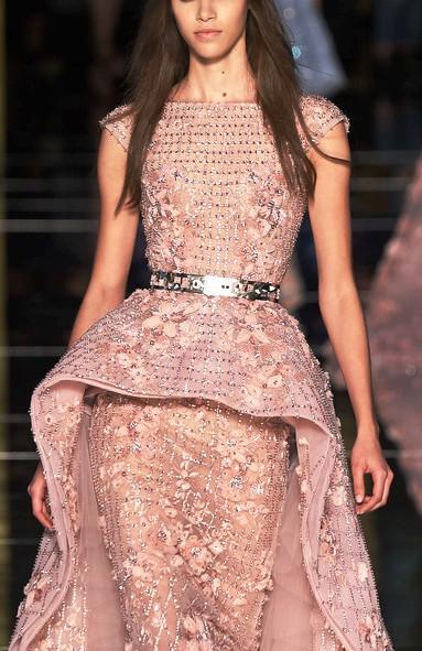 Zuhair Murad весна-лето 2016 — Платье как клетка для райской птицы