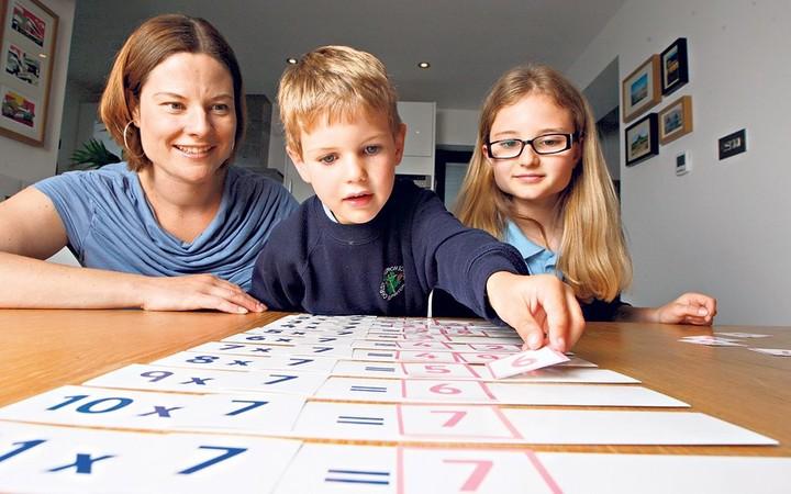 Обучение умножению с помощью карточек