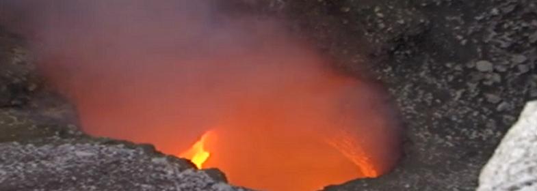 На вулкане Масая в Никарагуа…
