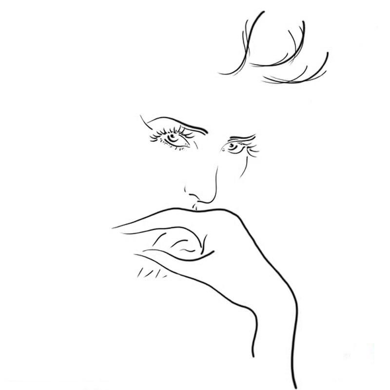 Белый лист и минимум штрихов, но портрет, как будто бы живой!
