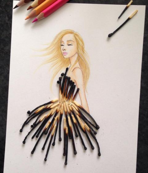 Невероятные эскизы платьев отfashion-иллюстратора Эдгара Артиса