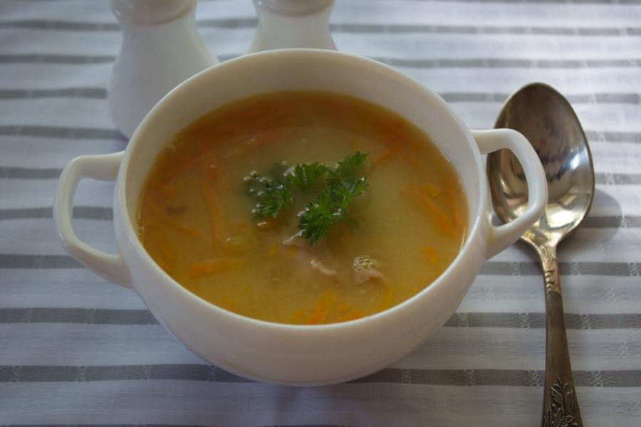 Суп гороховый с окорочком рецепт с фото