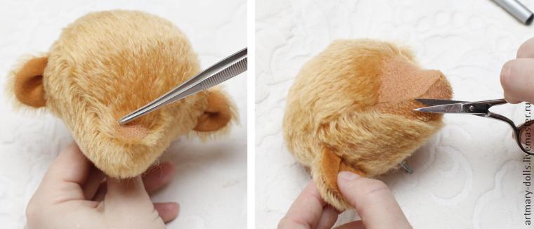 Как сделать утяжки на мордочке зайца