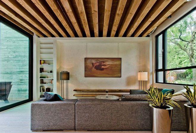 отделка потолка в комнате варианты