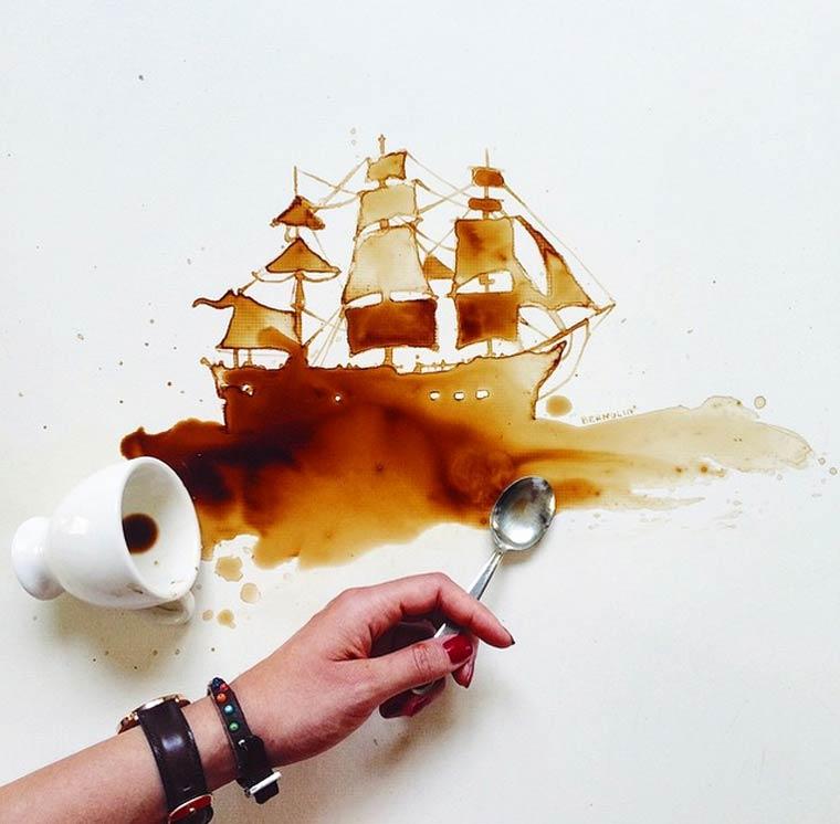 «На кофейной гуще...»: интуитивная живопись Giulia Bernardelli