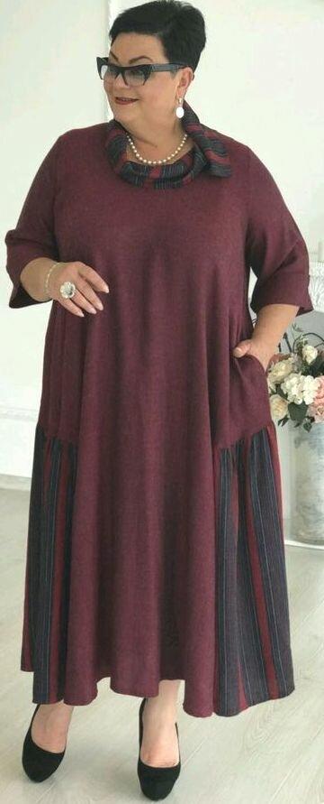 Платье бохо бордово-фиолетового цвета