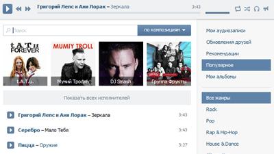 «ВКонтакте» ведет переговоры с лейблами о монетизации музыки в соцсети