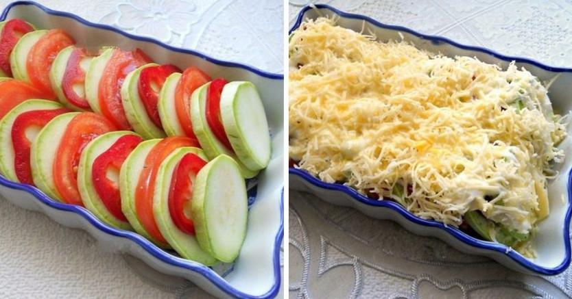 Сочные запечённые кабачки с помидорами... Рука сама тянется за добавкой!