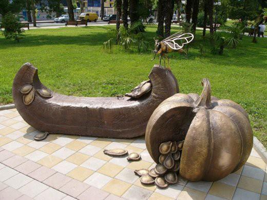 Необычные памятники городов России скульптуры, стрит-арт, юмор