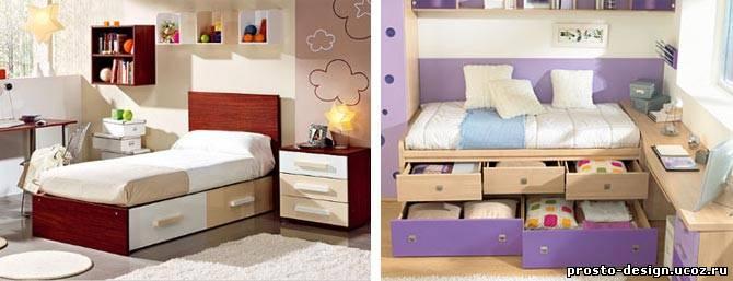 Детская кровати с ящиками своими руками
