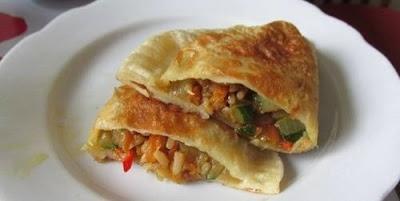Рецепт постных чебуреков с рисово-овощной начинкой