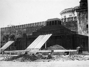 Фото: Мавзолей Ленина — похороны вождя
