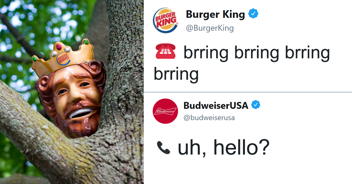 People Are Laughing At The Way Burger King And Budweiser Troll Twitter