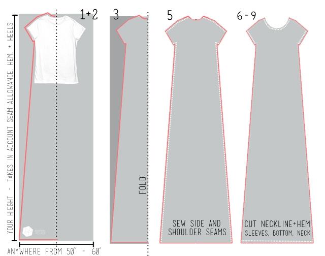 Простые выкройки для длинного простого платья