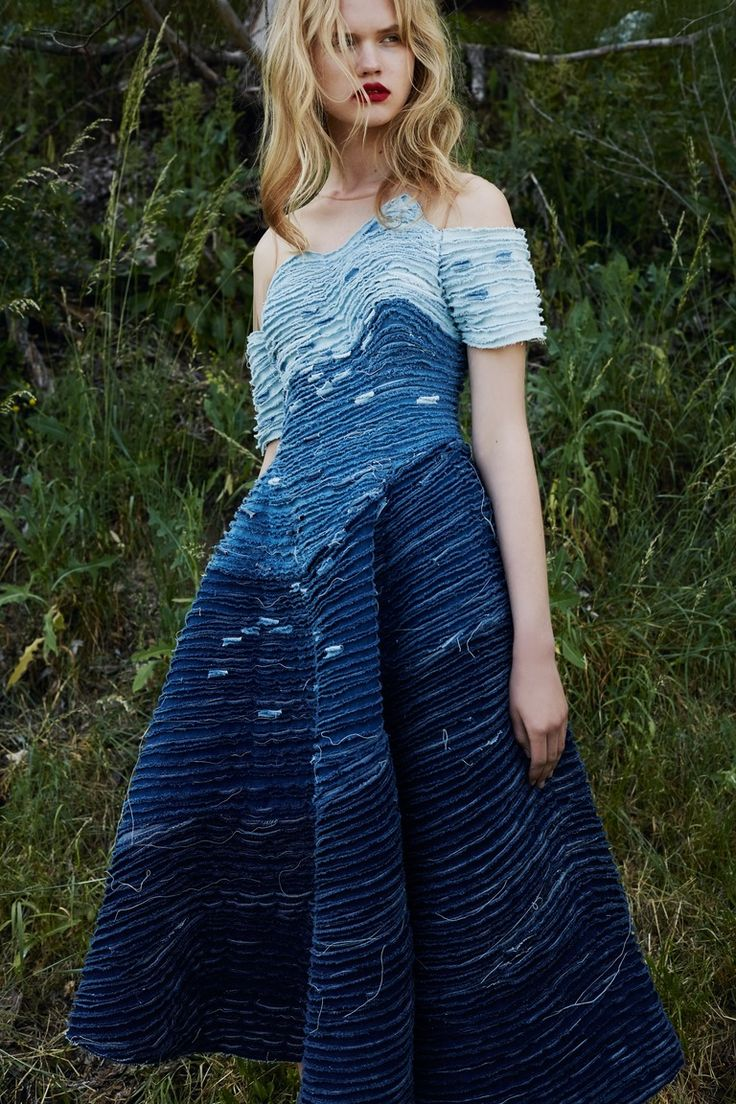 denim dress from Alena Akhmadullina Resort 2016