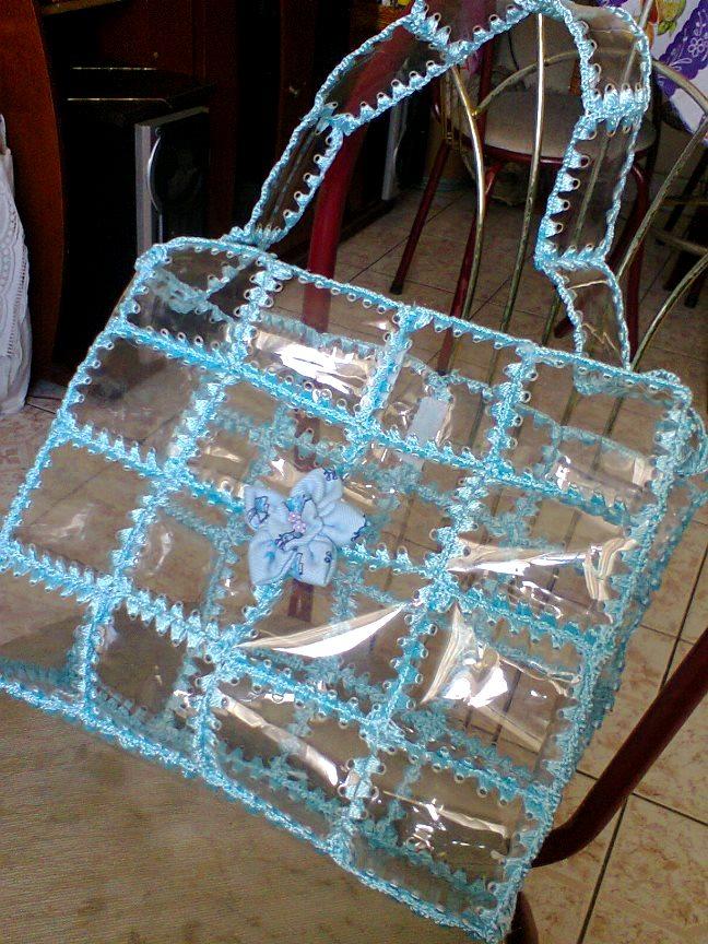 Сумка из пластиковых бутылок плетеные 3