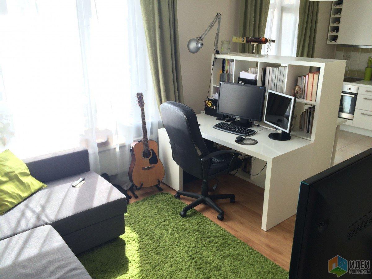 Интерьер квартиры-студии, как сделать кабинет в студии
