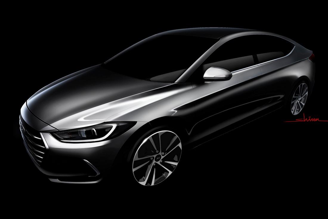 Компания Hyundai рассекретила новую Elantra