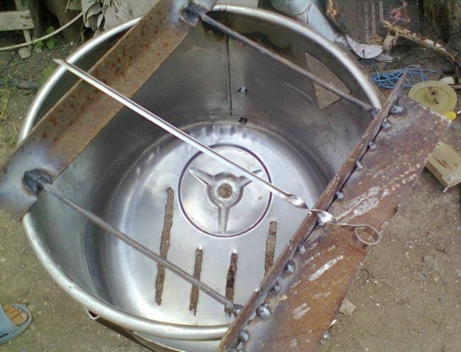 Мангал из стиральной машины фото