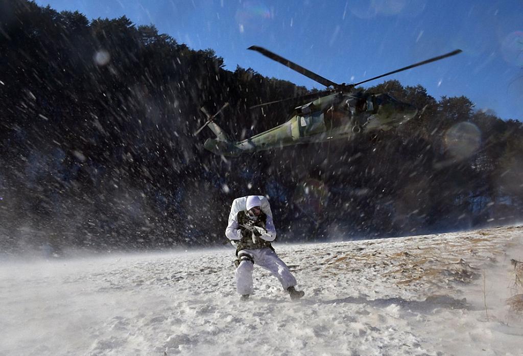 Зимние учения южнокорейского спецназа-10