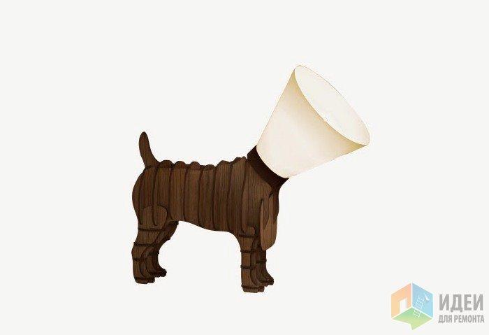 Светильник в виде собаки