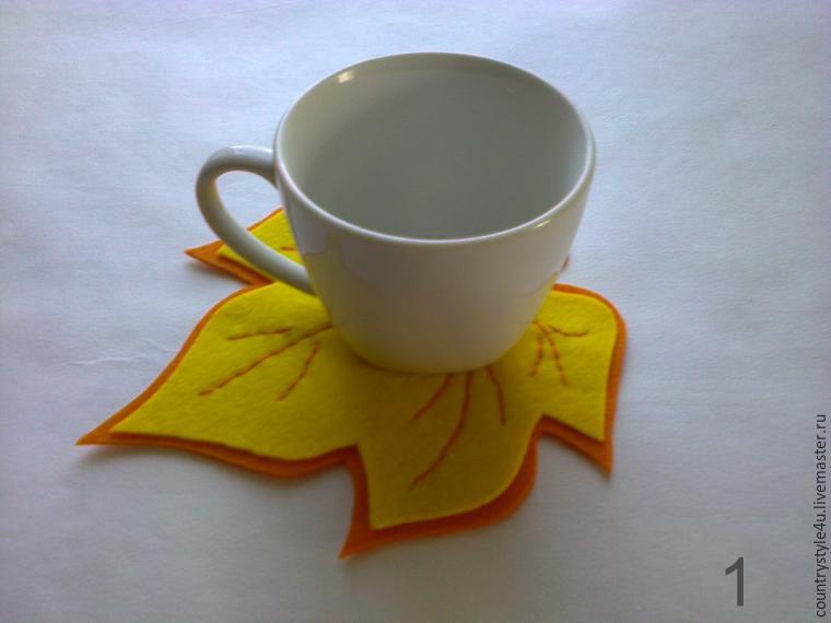 Шьём из фетра подставку для чашки