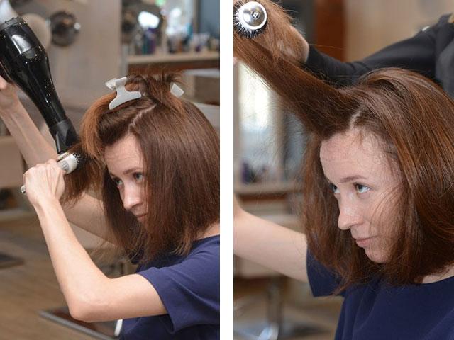 Укладка волос феном средней длины в домашних условиях