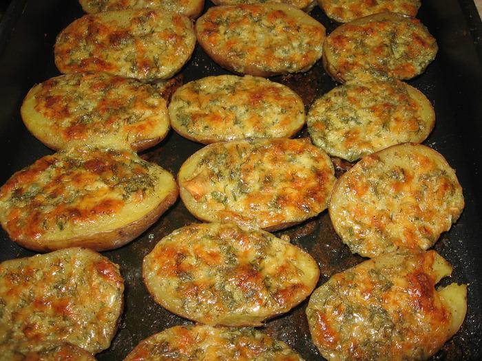картошка с грибами и чесноком в духовке рецепт