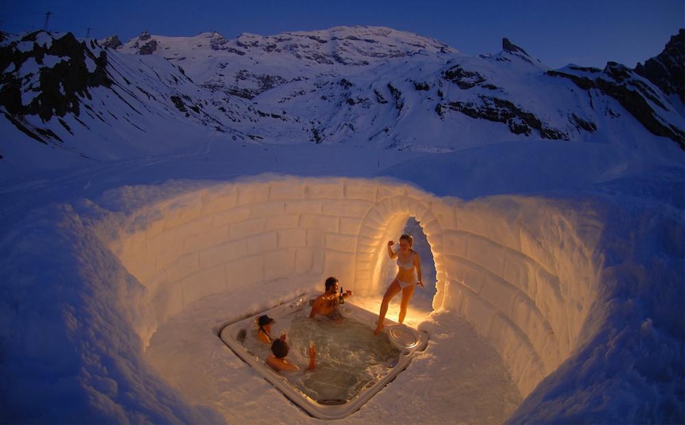 18. Джакузи в Альпах. люди, мир, удивительные фотографии