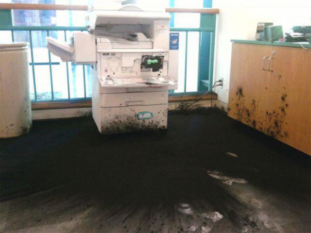 Если у вас завалялся старый картридж от лазерного принтера истории из жизни, картридж, катастрофа, тонер, юмор