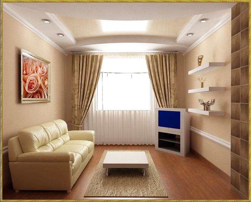 Дизайн гостиной в тёмном цвете