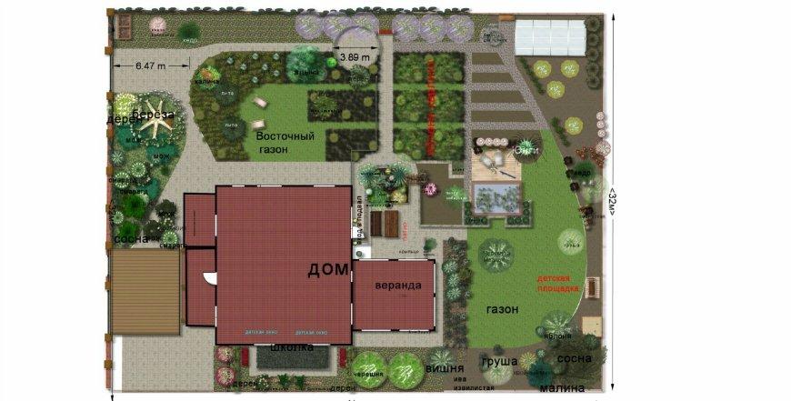 Планировка участка загородного дома фото