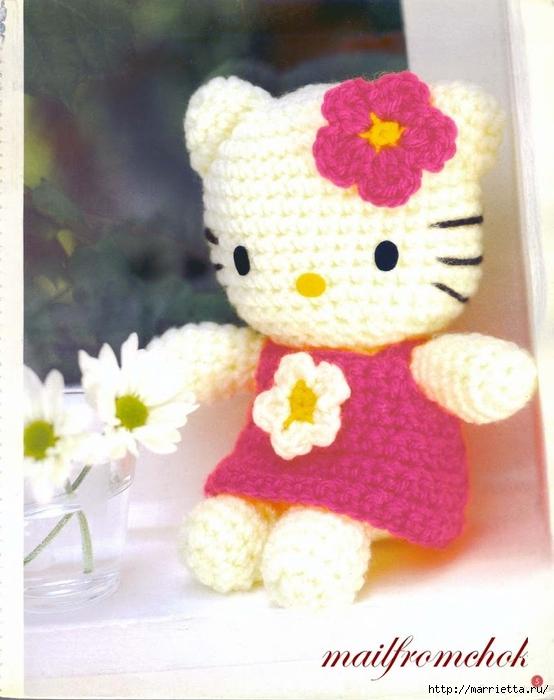 Hello Kitty! Вяжем японскую кошечку. Отличный журнал со схемами (4) (554x700, 241Kb)