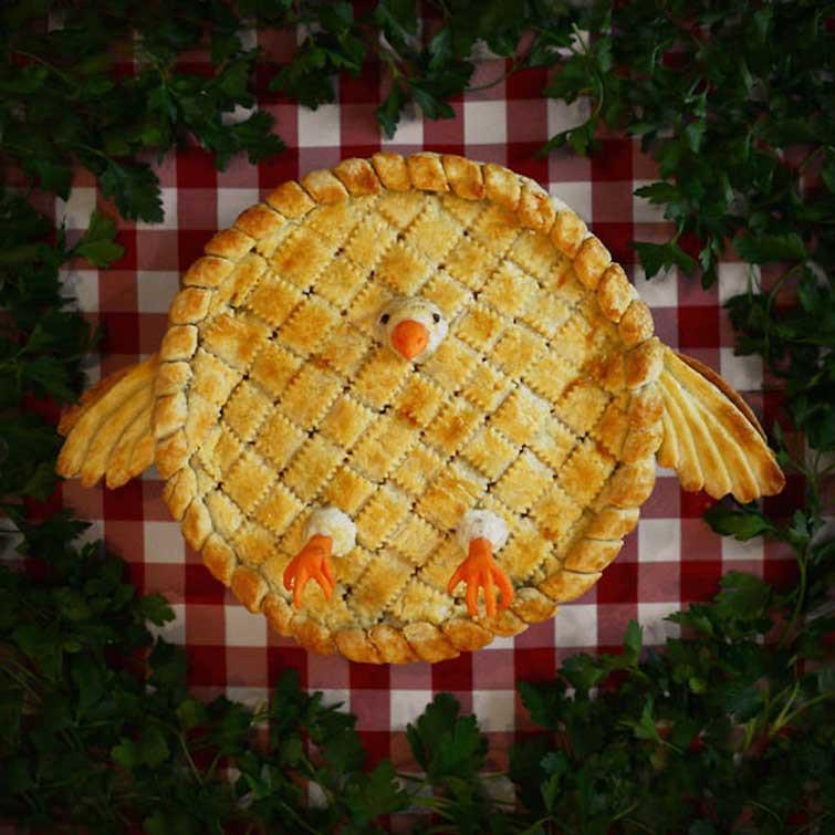 Настоящий пирог с курицей в горшочке выпечка, красивая еда, кулинария, пироги