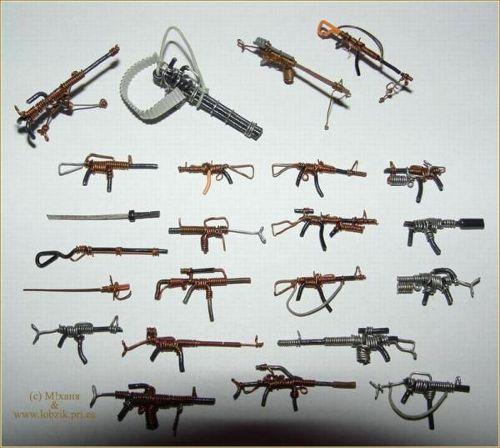 Оружие для проволочных солдатиков
