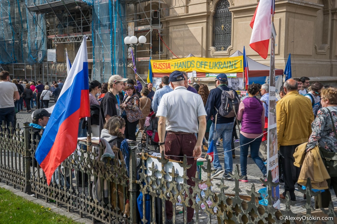 Евромайдан. Украинский конфликт в центре Праги...