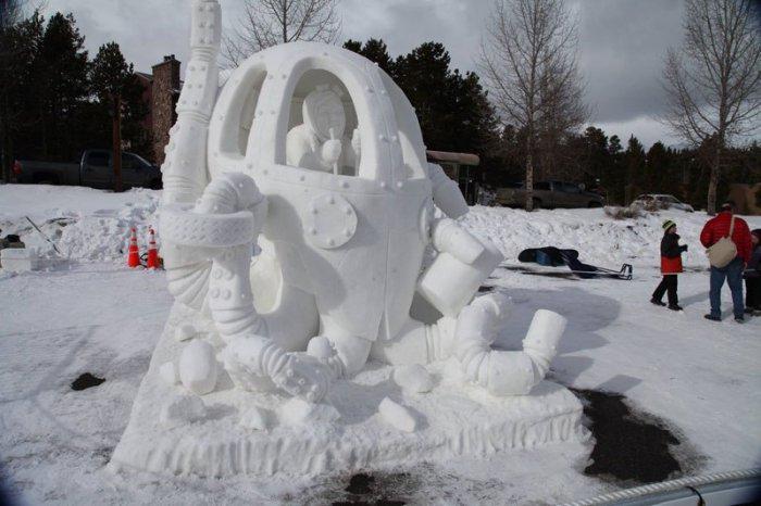Лучшие снежные скульптуры International Snow Sculpting Championships
