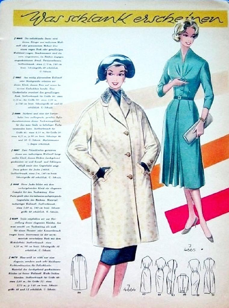 «По страницам Modenschau»: мода 50-х годов прошлого столетия