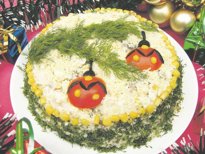 Салат на новый год 2015 рецепт с