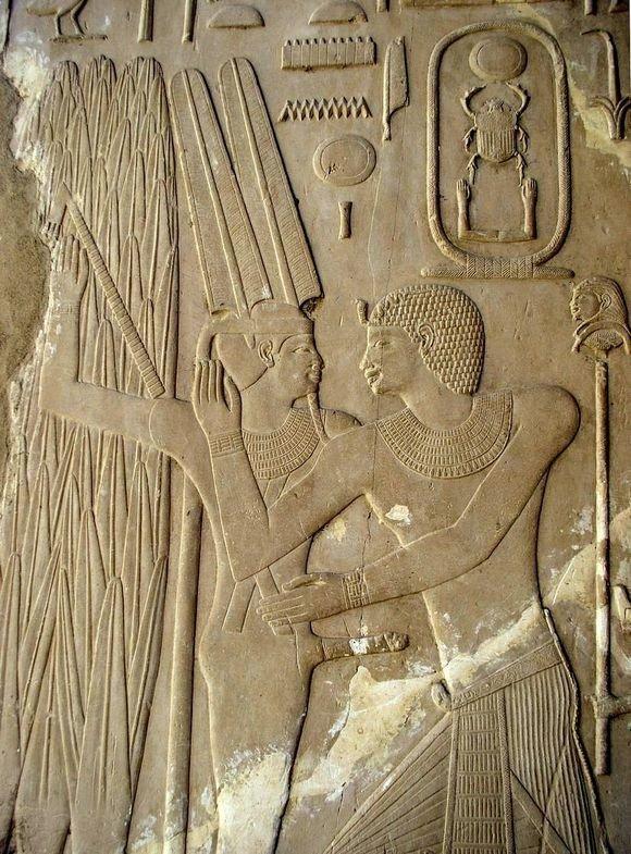 Рельеф на стене храма. Карнак. XX ве. До н.э. древний египет, интересно, история