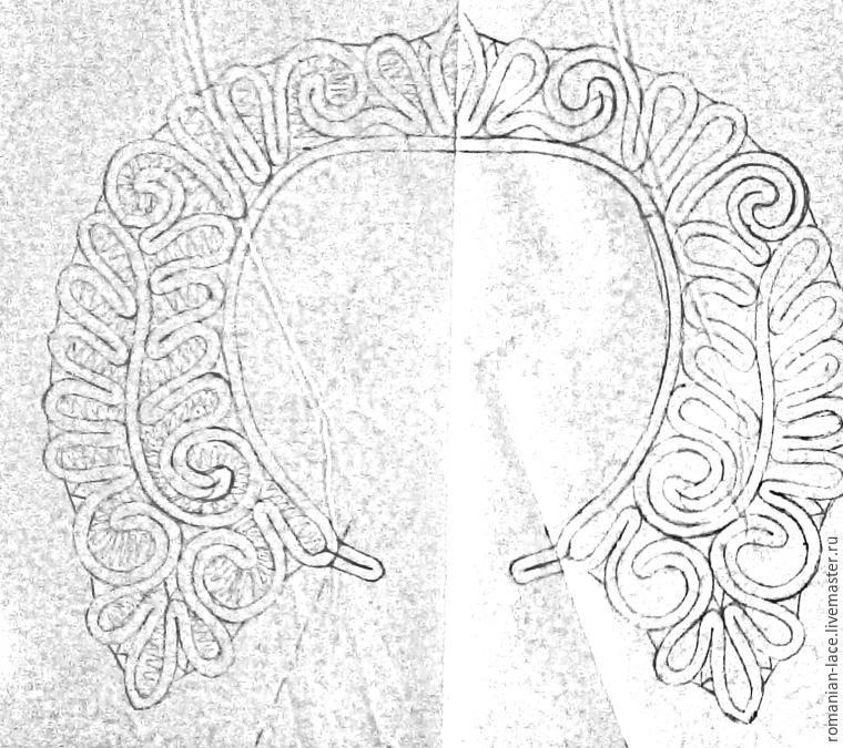 Румынские кружева схемы воротников