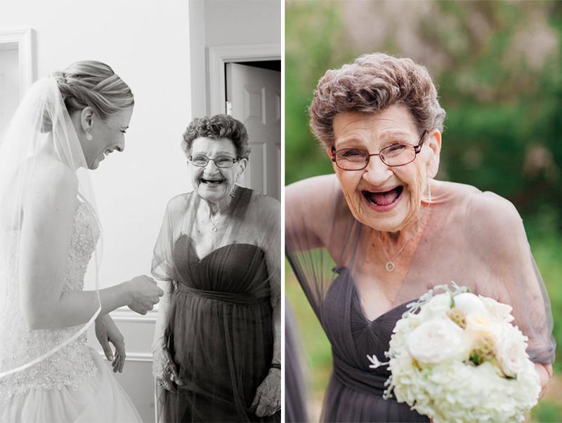 Внучка попросила свою 89-летнюю бабушку стать подружкой невесты на её свадьбе бабушка, внучка, свадьба