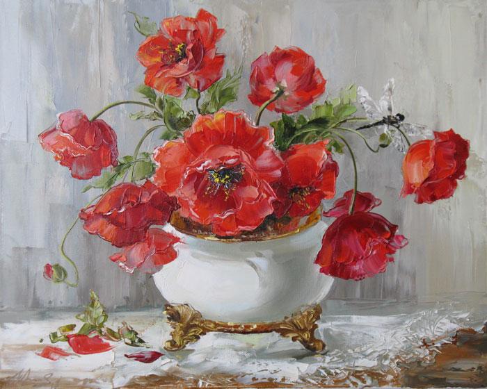 Цветочные натюрморты художницы Оксаны Кравченко
