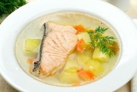 Рецепт ухи из красной рыбы с фото