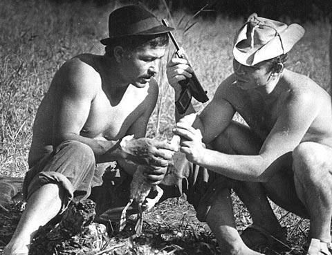Михай Волонтир, когдпа позволяло здоровье, любил охоту.